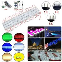 10-100ft 20-200PCS SMD 5050 3 LED Module Light Club Store Front Window Sign Lamp