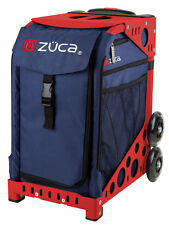 ZUCA Bag MIDNIGHT Insert & Red Frame w/Flashing Wheels - FREE SEAT CUSHION