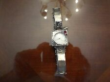 VINTAGE STERLING SILVER WATCH WITH SAFETY CHAIN-925--BEAUTIFUL