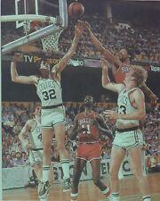 LARRY BIRD KEVIN McHALE & DR J 8X10 PHOTO BOSTON CELTICS BASKETBALL NBA 76ers