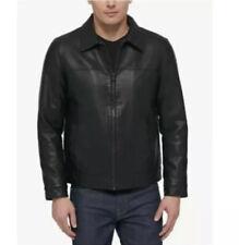 Tommy Hilfiger Men's Classic Faux Leather Jacket Size L Black 158AU855