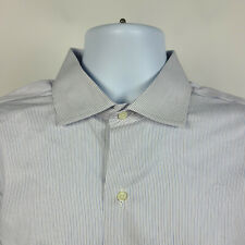 Brooks Brothers Makers Slim Fit Red Blue Striped Mens Dress Shirt 16-33 USA MADE