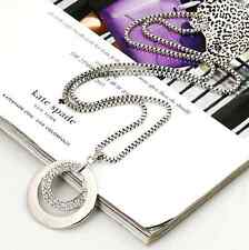 Women Fashion Charm Crystal Rhinestone Dress Long Chain Pendant Necklace Gift