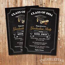 Graduation Party Invitation - Personalized - Digital Printable File