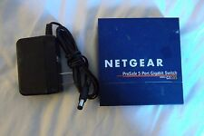 Netgear ProSafe 5-Port 1000Mbps Desktop Gigabit Ethernet Switch Auto-MDIX GS105