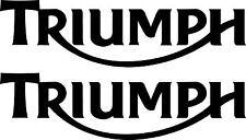 2 x Triumph Motorrad Aufkleber moto sticker decals 200 x 55 mm