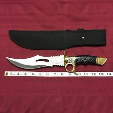 Black Widow Bowie Knife Hunting Survival Combat Stainless