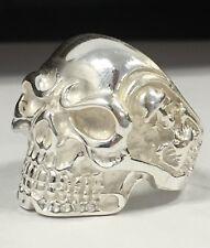 Mens Skull Ring Biker Heavy Solid 925 Sterling Silver Sz 11 NEW Alien USA Made