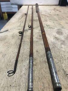 "Antique 3 Pces 9""fsplit Cane Fly Rod"
