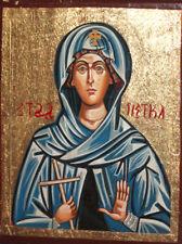 Orthodox Christian hand painted icon Saint Paraskevi Petka