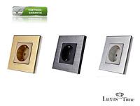 Aluminium Steckdosen Wandsteckdose mit Alurahmen für Unterputz von LUXUS-TIME