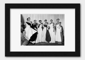 Fashion Models at a Show in the 1950's Print Black Frame White A3 (29.7x42cm)