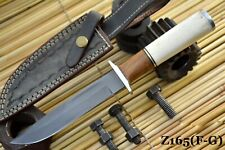 Custom 1095 High Carbon Steel Hunting Knife Handmade, No Damascus (Z165-F)