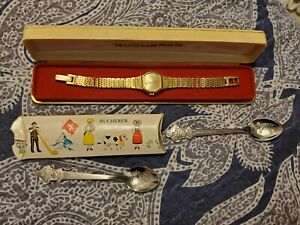 Rare Vintage Bucherer Gold Plated Manual Wind Ladies Watch
