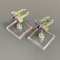 Lot 2  M3-A Intercept Star Wars X-Wing Miniatures Starfighter Galactic figures