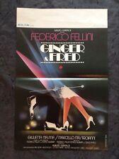 Ginger & Fred - Original Movie Poster - Federico Fellini - Marcello Mastroianni