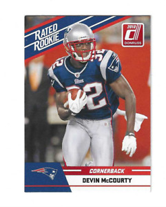 $$$$ DEVIN MCCOURTY 2010 DONRUSS RATED ROOKIE RC #30 NEW ENGLAND PATRIOTS $$$$
