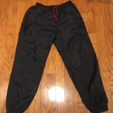 New 90s Marlboro Unlimited Black Track Pants Red Fleece Lined Cigarettes Sz XXL