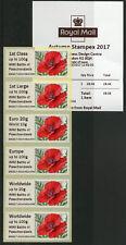 GB 2017 MNH WWI WW1 Passchendaele Post & Go Autumn Stampex 6v Col Strip Stamps