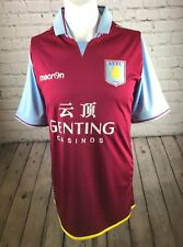 Aston Villa football shirt Home Kit 2012 Macron Genting Casinos Vgc.
