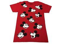 Disney Retro Mickey Mouse Face All Over Vintage Cartoon Men's T Shirt S-2XL