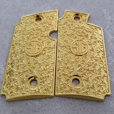Custom Sig Sauer P238 Grips Scroll Pistol Grips Metal Sig P238 Gold Plated