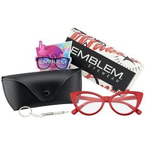 Super Cat Eye Glasses Vintage Inspired Fashion Mod Clear Lens Eyewear w/ CASE