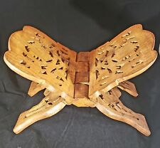 Hand Carved Folding Wooden Bible Stand