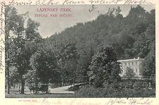 Teplice nad Becvou,Czechoslovakia,Lazensky Park,Used,Austrian Stamp,1904