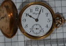Taschenuhr pocket watch 30 mm diameter 20 g Longines 14kt Gold 585 Savonette