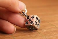 Used Dice S925 Silver fashion Skull figure statue Backpack hang pendant