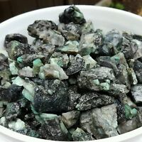 1/4 lb 500 CTS ROUGH EMERALD GEMS NATURAL UNSEARCHED MINERAL LOT, Lapidary cab