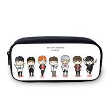 BTS Group Bangtan Boy Kpop Gift School Pen Pencil Bag Stationery Case Makeup Bag