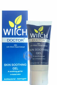 2 X Witch Doctor Skin Soothing Gel 35ml FREE POSTAGE