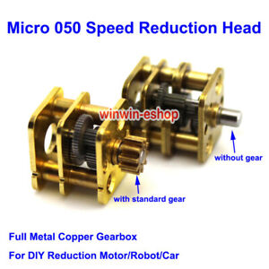Micro 050 Reduction Motor Speed Reduction Head Metal Copper Gearbox For Robot