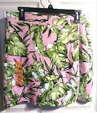 New  *JONES NEW YORK*  Sport Cotton Pink/Multi Color Tennis/Golf Skort, Med