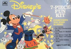 Vintage Disney's Golden Books 7-Piece Fun Kit #137051 Mickey, Pooh! New, sealed!