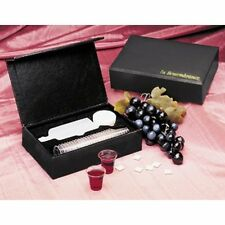 BRAND NEW -PORTABLE COMMUNION SET Black Case