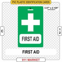 First Aid PVC ID Card 1st Work Health & and Safety Identification Responder C 12