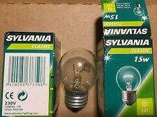 lotto 10 lampadina incandescenza sfera sYLVANIA 15 watt  E27 230V NUOVE