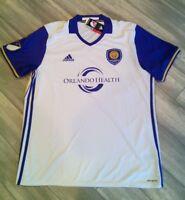 7417A MLS ADIDAS ORLANDO CITY White Soccer Jersey Men's Size: XLRetail: $85.00