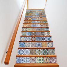 13pcs/Set 3D Self-adhesive Tile Sticker Stair Mural Vinyl Kitchen Bathroom Decal