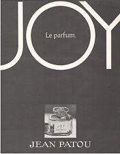 ▬► PUBLICITE ADVERTISING AD Parfum Perfume JEAN PATOU Joy