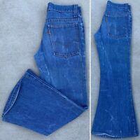 Vintage Levi's Bell Bottom Flare Leg Jeans 784-0917 28 30 Measure W 28 L 26 1/2