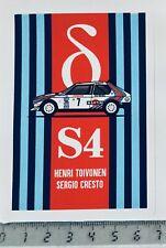 Sticker / Aufkleber, Lancia Delta S4, Henri Toivonen / Sergio Cresto