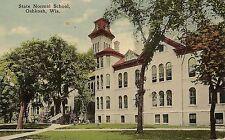 State Normal School in Oshkosh WI Postcard 1915