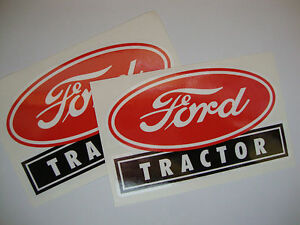 2 X FORD TRACTOR  VINYL STICKERS FARM IMPLEMENTS TRACTOR AGRICULTURE  FARMING