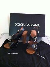 DOLCE & GABBANA Womans Sandali Zoccolo/Nero NUOVO con scatola e Piastre Borse RRP £ 440