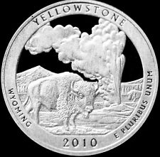 2010 S  Yellowstone WY National Park America the Beautiful ~ Gem Silver Proof