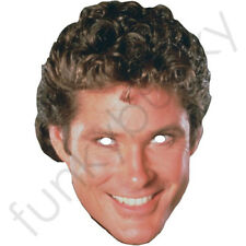 David Hasselhoff 1980's The Hoff Celebrity Card Mask 80s Our Masks Are Pre-Cut